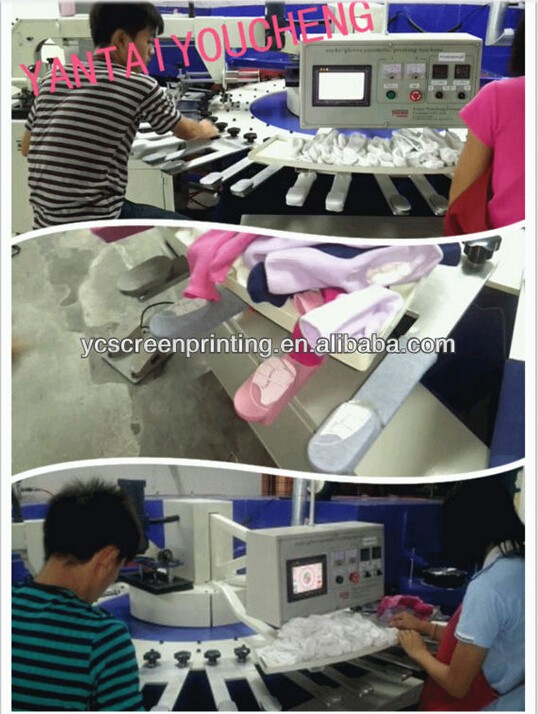 CE Approved Automatic Sock Machines Rubber Bottom Sock Printing Machine 24 Pallet