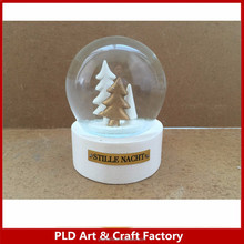 Mini snow globe 8cm diameter resin glass snow globe 6.5cm snow globe for promotion