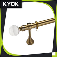 KYOK new designs wrought iron curtain rods wholesale & curtain rods factory , accessories curtain