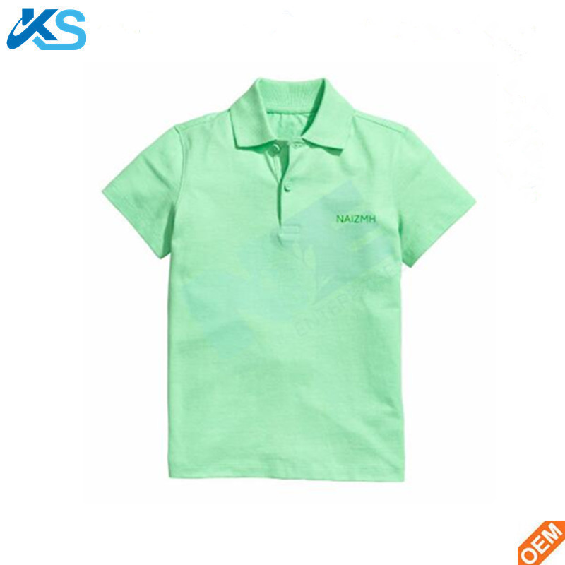 Boys' kids blank cotton polo shirt and Pique Polo