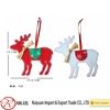 New arriving deer shape exquisite handmade Christmas tree decoration