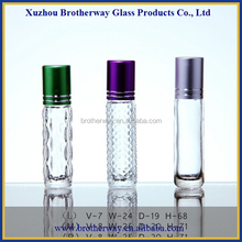 clear glass roller on bottle with alumite cap