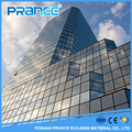 Constructive frameless glass curtain wall glass curtain wall structure