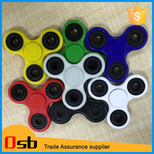 2017 New Black Tri-Spinner Fidgets Toy Plastic EDC Sensory Fidget hand Spinner For Autism and ADHD Kids/ Spin more 2 mins