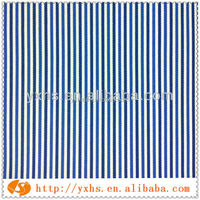 100%cotton stripe navy white fabric for shirting