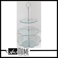 white two-layer wedding cake stand 1322.002