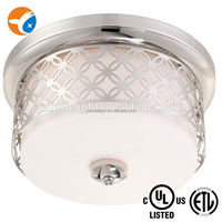 High quality flush mount modern crystal ceiling light design UL ceiling light fitting