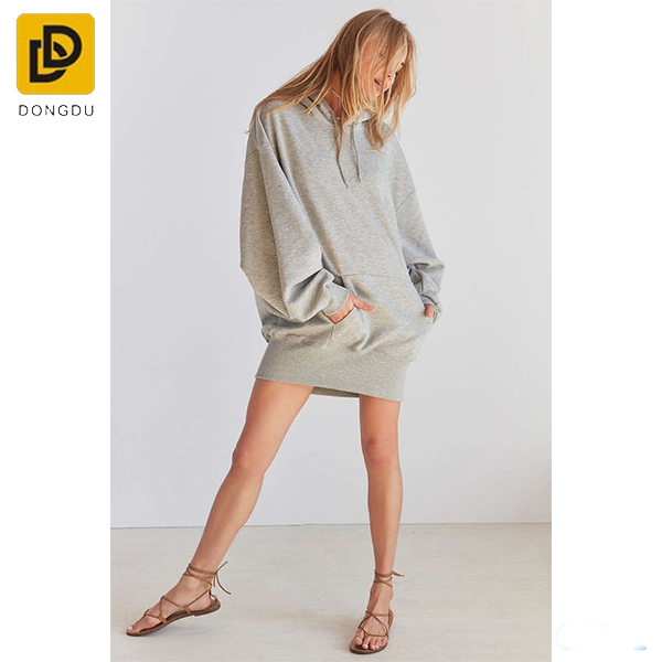 New design summer fashion women hooded sweatshirt casual dress