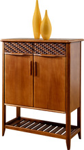 Home Casual Outdoor Furniture Solid Wood Shoe Cabinet