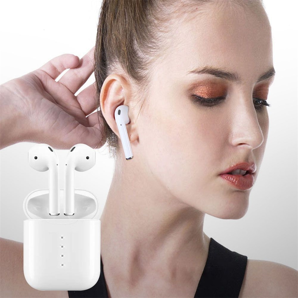 TWS F10 wireless with bluetooth 5.0 noise canceling and LED indication voice prompt