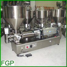 Full air vertical five head liquid / paste filling machine (semi-auto 5-head dosing machine for cream, sauce, jam, butter, oil)