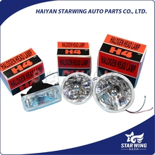 factory directly high quality metal crystal type halogen semi sealed beam with h4 used headlight