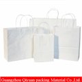China Manufacturer Printing Foldable White Kraft Paper Carrier Bag with Logo