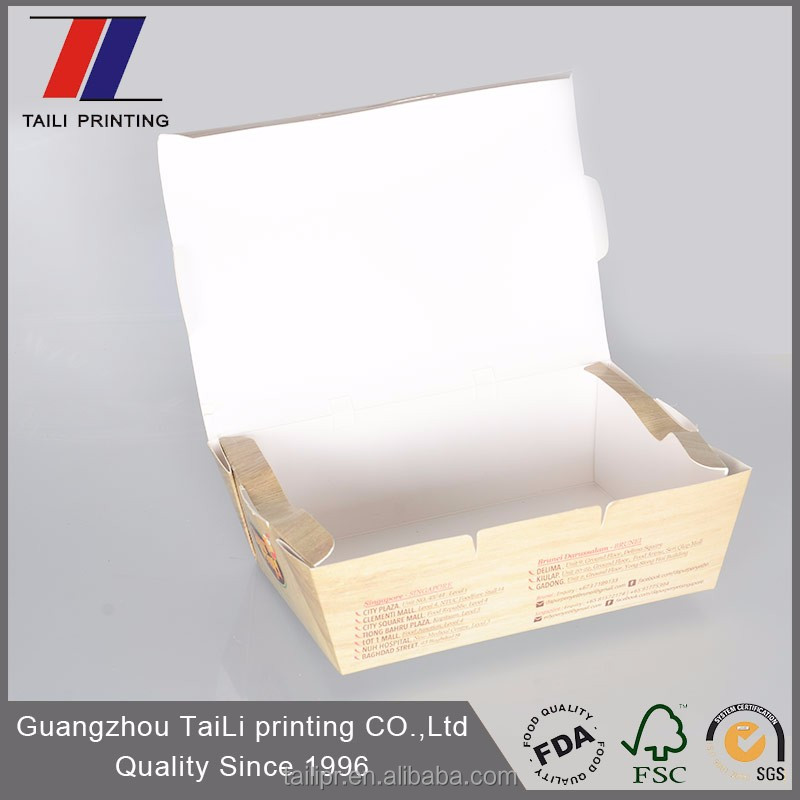Custom biodegradable disposable clamshell food container