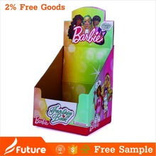 Children display type cheap handle corrugated box for stickers