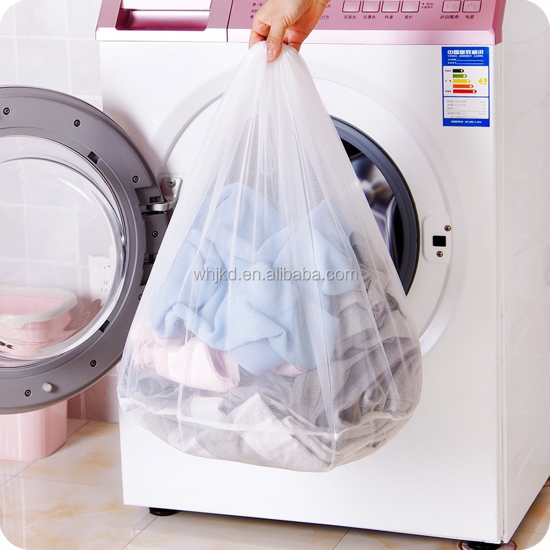 Hot selling recyclable polyester Mesh Laundry Washing Drawstring Bags