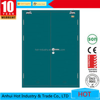 Dark Green Color Auto-closing Function Europe Style Spanish Metal Sliding Steel Security Door