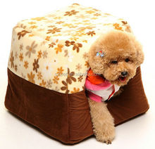 Factory direclty provide best selling soft cloth pet dog bed house IPET-PB14