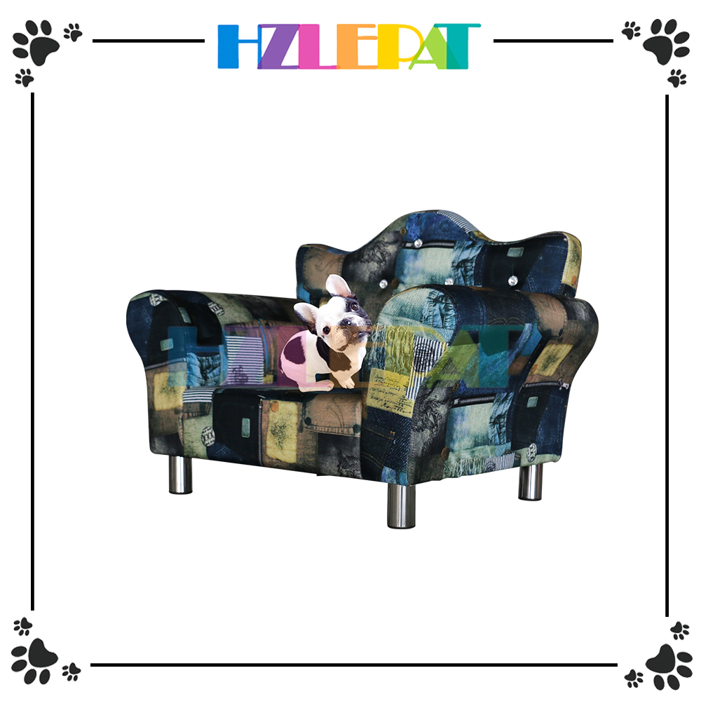 NEW style hot pet sofa colorful leather dog sofas,luxury dog sofas bed