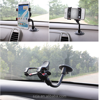 Gooseneck Bending car mobile phone holder Car Mount Holder Secure Cell Phone/GPS to Vehicle's Windshield