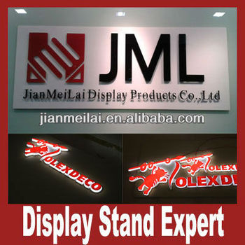 Acrylic company sign board for shops
