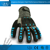 QL Molded Knuckle Impact Protection Hand Miners Gloves