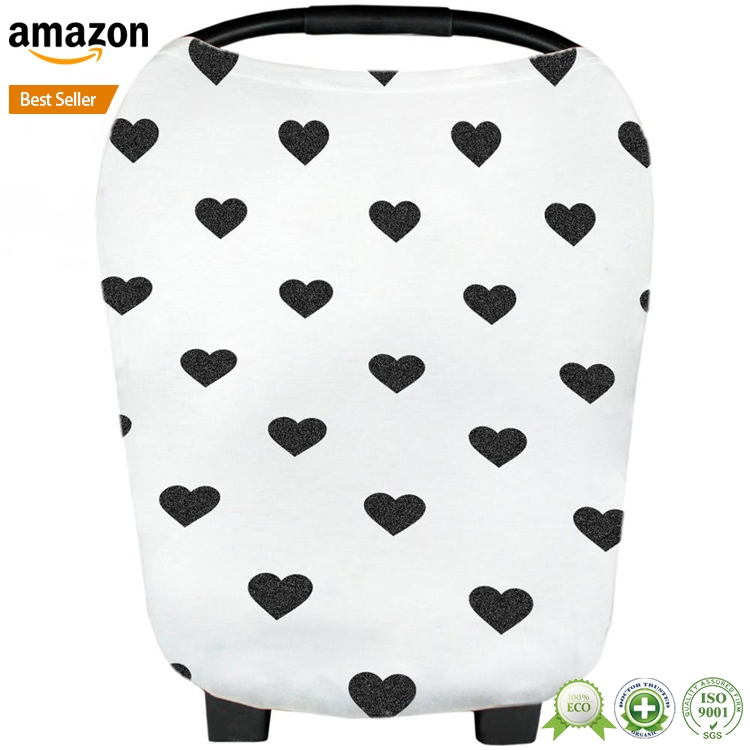 Wholesale good breathable muslin infant car seat cover