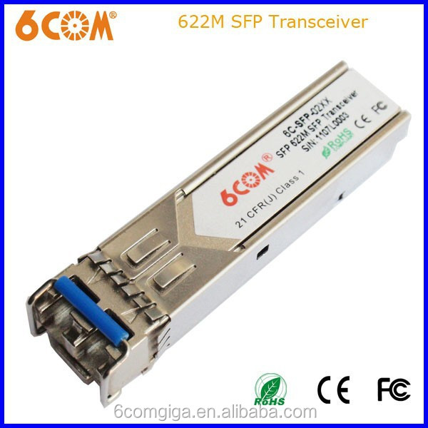 6COM SFP Transceiver 1.25G 1310nm 40KM DDMI LC Connector 0-+70 Degree Compatible with Nortel Item Number is NTTP05EF