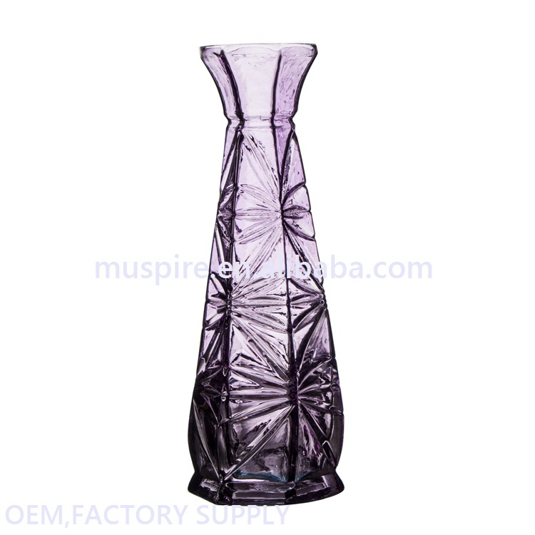 Cheap price custom hot selling hanging glass vases for flower