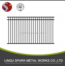 Stable manufacturer fence around pool with aluminium and steel