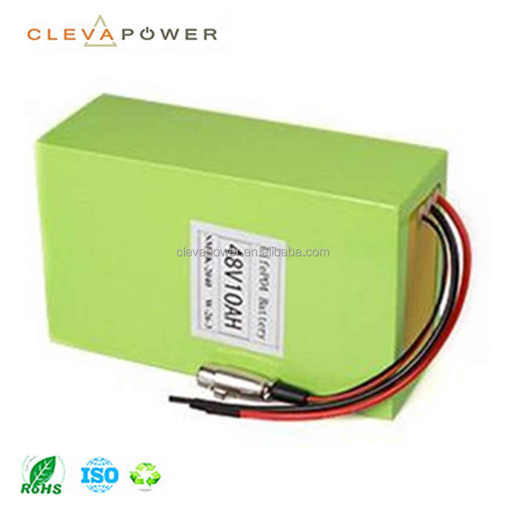 Cleva 48V 10Ah lifepo4 battery lithium ion rechargeable battery pack for ebike
