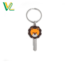 Wholesales High Quality Die Casting Metal Animal Nickel Split Ring Souvenir Key Chain for Kids