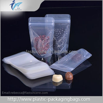 Transparent Stand up Pouch,Clear Ziplock Food Packaging
