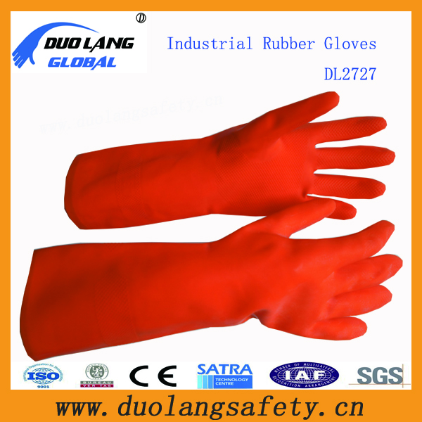 Acid rubber gloves Sleeve 45CM thick natural latex industrial chemical warfare protective