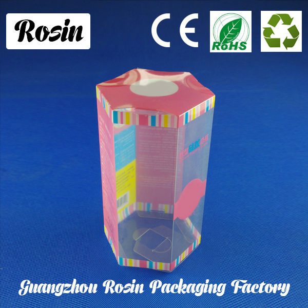 wholesale custom plastic clear pvc wine gift packing box