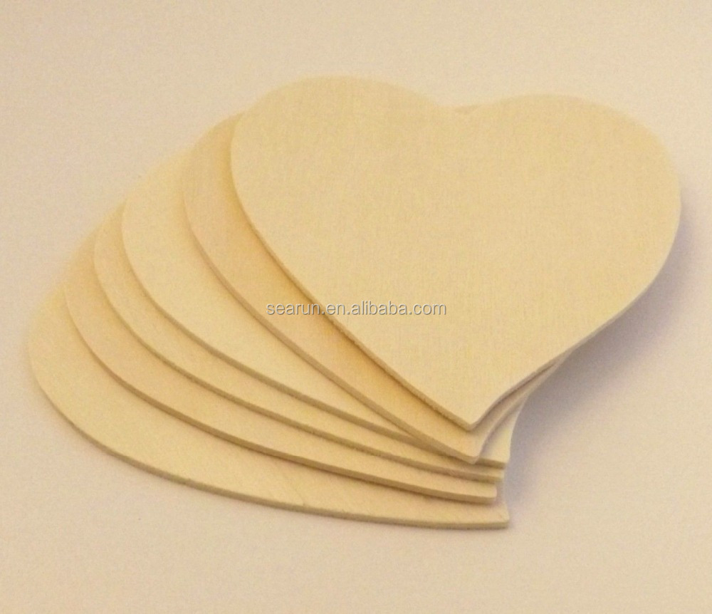 6 pieces large 4 3 4 unfinished wood hearts for wood for Unfinished wood pieces for crafts