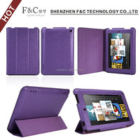 Ultra-thin PU three folding kids friendly case for Amazon Kindle Fire HD 7 cover