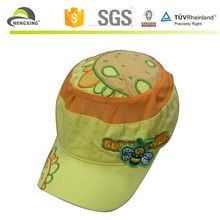 children cheap fashion sports cap with sunflower on top