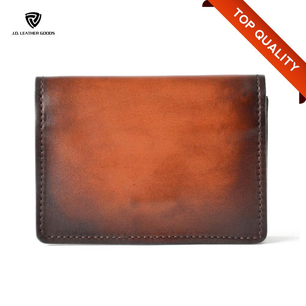 Vintage genuine leather business card holder or name card for Vintage business card case