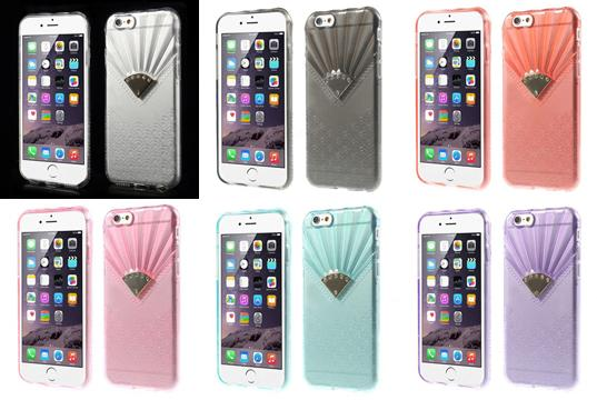 Distinctive Fan-shaped Pattern TPU Gel Case for iPhone 6 Plus