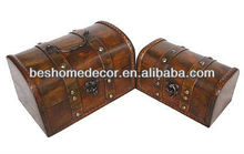 ply wood chest set/2, metal handle treasure chests for sale