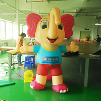 Best selling attractive style cheap price 2m inflatable elephant cartoon for advertising
