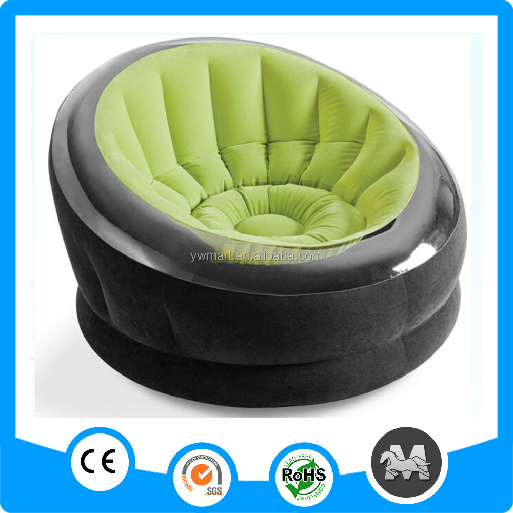 Newest and hottest single luxury round intex inflatable chesterfield sofa in bedroom <strong>furniture</strong>