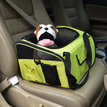Pet car pack dog pack cat car bag can be foldable and foldable