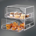 transparent acrylic stackable box with drawer
