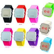 silicone fashion LED watch best selling products new design sport digital led watches