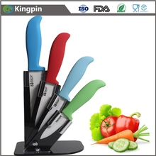 high quality 5pcs ceramic knife set with acrylic knife stand sharp edge