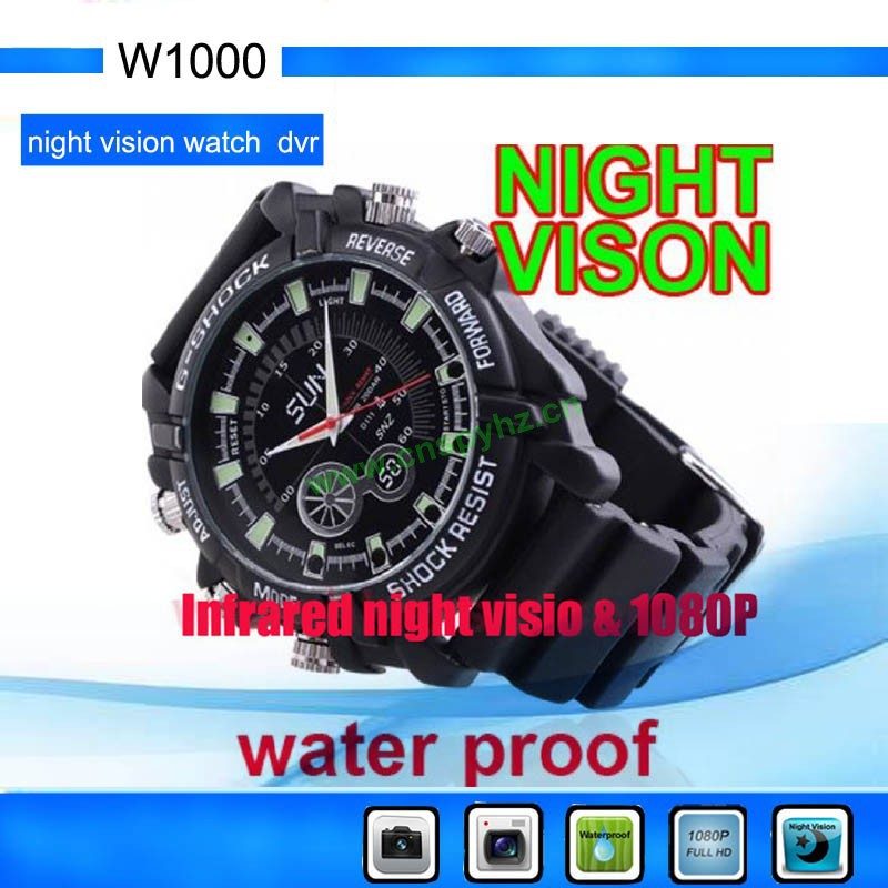 Full HD 1080P Waterproof Hidden Mini Watch DVR Night Vision Wrist Watch camera HD Mini Camera Built in 4GB Memory