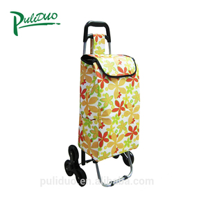 High Quality Collapsible 6 Wheeled Foldable Shopping Bag Market Trolley