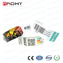 Ntag213/216 Ultralight C NFC Disposable rfid paper wristband